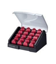 Ondulator REMINGTON H 9096 bigudiuri, 20 Bigudiuri, Ceramica, Negru-Rosu